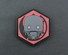 3D PVC K-2SO GITD Morale Patch Star Wars Rogue One VELCRO® Brand