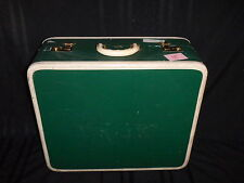 Vintage Warren Suitcase Luggage Travel Bag Forest Green 1940's Mid-Century