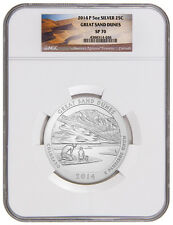 2014-P 5 Oz Silver America The Beautiful Atb Great Sand Dunes Ngc Sp70 Sku34629