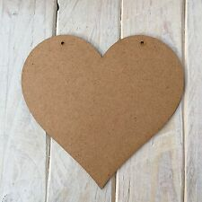 MDF Wood HEART Shape Plaque Blank Make Your Own Plaque Craft Shape
