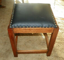 Solid Quartersawn Oak Mission Footstool / Stool / Bench  (ST122)