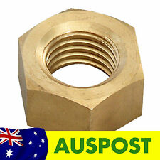Aus3D - Four 8mm M8 Brass Hex Nuts for Z Axis 3D Printer RepRap Prusa Mendel