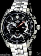 CASIO EDIFICE CHRONOGRAPH EF-550D-1A BLACK DIAL STAINLESS  STEEL CASE BRACELET