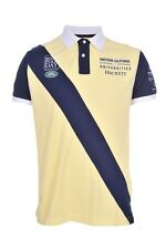 Hackett British Polo Day Mens YELLOW Cotton Short Sleeve Polo Shirt Size XXL
