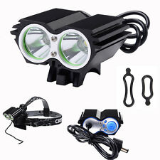 5000LM 2x CREE XM-L U2 LED Front Cycling Bicycle Light Bike Headlight Headlamp