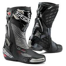 STIVALI BOOTS MOTO RACING SPORT TCX R-S2 RS2 EVO NERO BLACK SILVER TORSION TG 44
