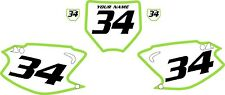 2003-2012 Kawasaki KX125 Pre-Printed Backgrounds White with Green Bold Pinstripe