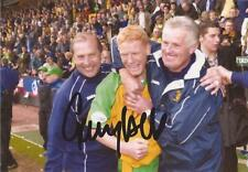 NORWICH: GARY HOLT SIGNED 6x4 ACTION PHOTO+COA