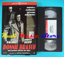VHS film DONNIE BRASCO 1998 Al Pacino Jonny Deep CECCHI GORI  0412 (F57) no dvd