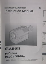 Canon V40 Hi 8/V420 8 Instruction Manual English Anleitung mode emploi - (14332)