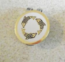 1 only WHITE  DOLPHINS GOLF BALL MARKER WITH NICE  HAT CLIP