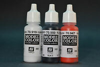 Vallejo Acrylic Paint Model Color 17ml Choose ANY Three Colors
