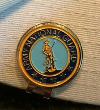 Premium US Army National Guard Hat Clip w/ removable Magnetic Golf Ball Mar