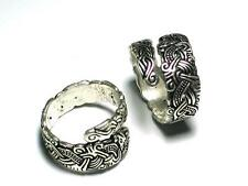 """Viking silver ring with """"Thorleif"""" design. Celtic, Viking, Norse"""