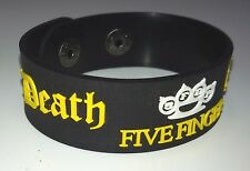 NEW FIVE FINGER DEATH PUNCH RUBBER BRACELET WRISTBAND UNISEX YELLOWSOUVENIR WB32