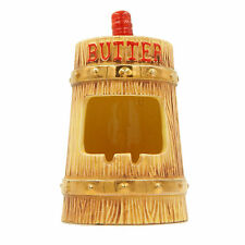 Butter Churn Ashtray Vintage Novelty Old Fashioned Wood Grain Barrel Collectible