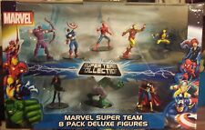 Marvel Comics Super Team 8 pack figures Spiderman thor iron man hulk wolverine