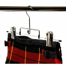 3 x KILT HANGERS Deluxe Chrome Plated Heavy Duty 42cm NEW from Caraselle 1776-3