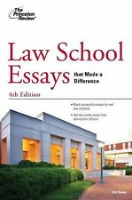 Law School Essays that Made a Difference, 4th Edition (Graduate School Admission