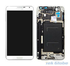 White LCD Touch Screen Digitizer + Frame for Samsung Galaxy Note 3 N900 3G