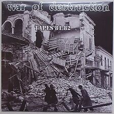 War Of Destruction - Tapes 81-82 LP Razor Blades The Crap Brats Denmark Punk