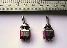 1  DPDT Spring Bias One Way/ Latch Other Toggle Switch (On) / Off / On 2A 250Vac