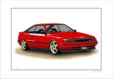 TOYOTA  CELICA   ST162    LMITED EDITION  CAR PRINT  AUTOMOTIVE ARTWORK