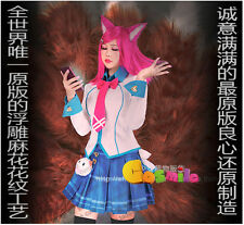 Cosmile LOL League of Legends Ahri Fox Cosplay Clothing Poro Costume whole set