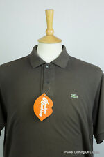 LACOSTE MENS POLO SHIRT SIZE 5 MEDIUM FADED BLACK VINTAGE DEVANLAY FRANCE P48