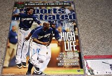 Milwaukee Brewers Nyger Morgan Signed Sports Illustrated Braun Fielder 16x20 COA