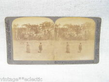 ANTIQUE STEREOSCOPE CARD BOOMERANGS IN FLIGHT NEW SOUTH WALES NWS AUSTRALIA