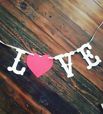 LOVE Banner Valentine's Day,Wedding,Save the Date Banner Photo Prop Rustic USA