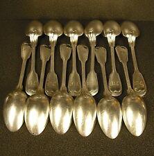 12 cuillères à soupe en métal argenté vers 1900 silver plated  tablespoon