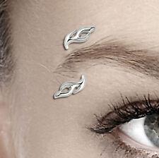 Tolles Augenbrauenpiercing Flame Flammen PTFE Bioflex Stab  925 Silber