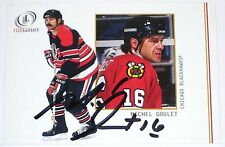 MICHEL GOULET SIGNED FLEER LEGACY CHICAGO BLACKHAWKS CARD AUTOGRAPH AUTO!!!