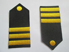 Pair of Epaulettes  Embroidered Patches -Iron or Sew on -  77 x 35 mm - P054A