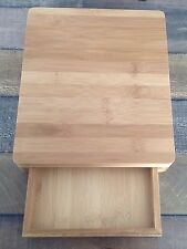 Kitchen Cheese Serving Platter Bamboo Board With Cheese Cracker Drawer Gift Set
