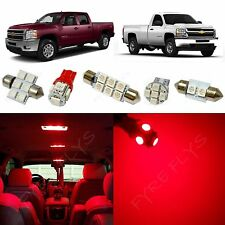 12x Red LED lights interior package 2007-2013 Chevy Silverado & GMC Sierra CS3R
