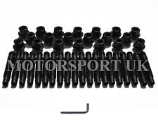 20 BMW E36  BLACK CONVERSION WHEEL STUDS AND BLACK NUTS