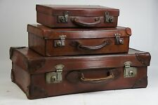 Graduated Stack of Vintage Suitcases Superb Prop Decoration