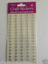 Diamante Stars 80 Pack Craft Sparkly Gems Stickers Self Adhesive