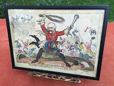 George Cruikshank SW FORES 'Old Blucher Beating The Drum' Antique Etching Print
