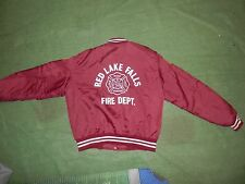 vintage Red Lake Falls Fire Dept MN rescue training jacket patches XL