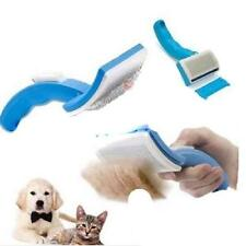 New! Grooming Self Fur Cleaning Pet Dog Cat Slicker Brush Grooming Trimmer Pin B