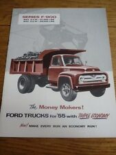 FORD SERIES F-900  TRUCK  USA SALES BROCHURE 1954 MODEL YEAR
