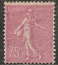 "France Stamp - Scott #151/A20 75c Rose Lilac ""Sower"" Used/LH 1926"