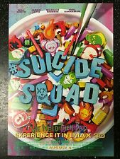 "Suicide Squad ORIGINAL S/S 13""x19"" IMAX Movie Poster Will Smith Margot Robbie"
