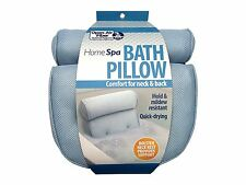 Bath Spa Pillow Cushion Neck Back Support Foam Comfort Bathtub Tub w/Suction Cup