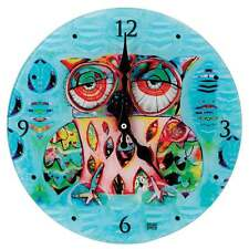 Allen Designs Cat and Owl Collection Owl Wall Clock New Boxed D117