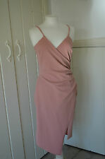 BRAND NEW - BNWT -  PRETTY LITTLE THING Rose Wrap Crepe Midi Dress  - Size 14